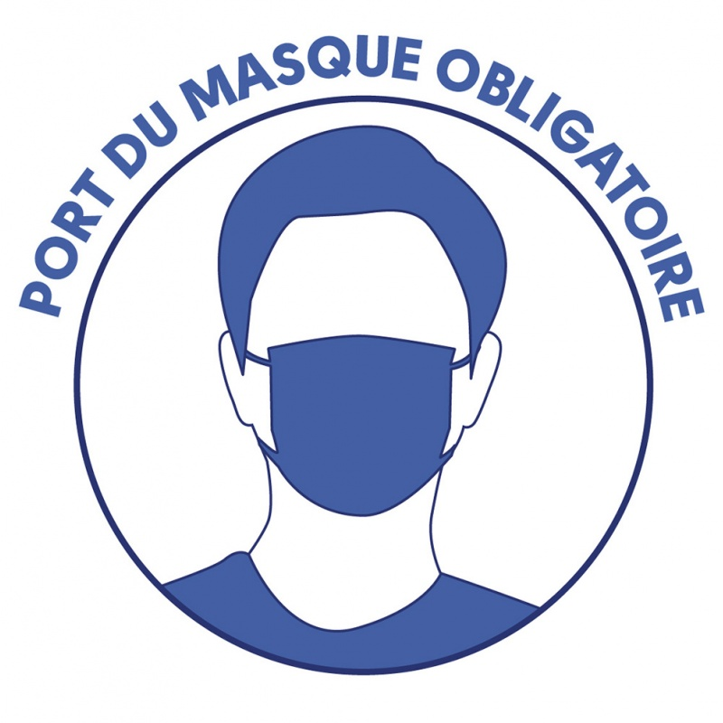 stickers port masque obligatoire